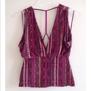 $72 Free People T-Back Summery Tunic Top Small